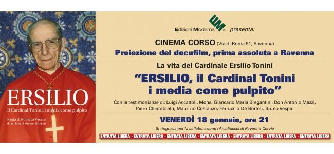 """Proiezione del docufilm: """"ERSILIO. il Cardinal Tonini i media come pulpito"""""""